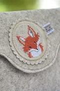 Stickbutton -Fuchs, einzeln aus B/126