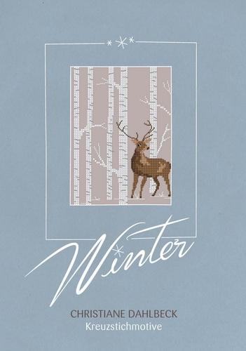 Buch -Winter-, Kreuzstichmuster