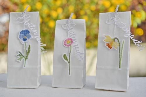 Stickdatei -3 Blüten-