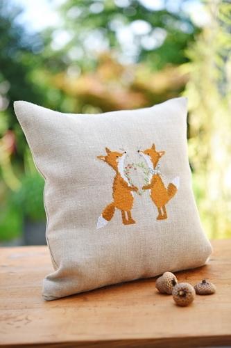 Stickdatei -Fuchspaar mit Herz-