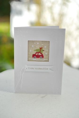 Stickdatei -Mini-Auto mit Tannenbaum-