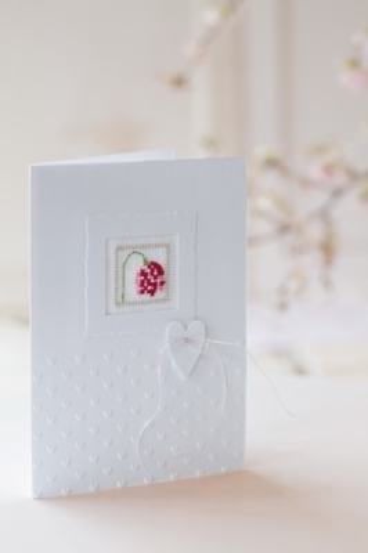 Passepartoutkarte -Miniquadrat mit Herz-