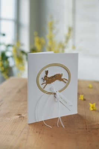 Passepartoutkarte -Springender Hase-