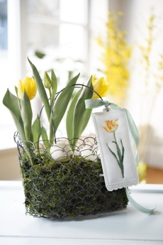 Stickanhänger -Tulpe-