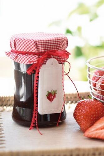 Anhänger -Erdbeere-