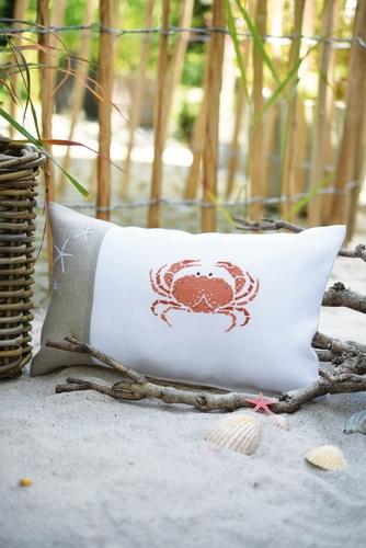 Kissenhülle -Krabbe-
