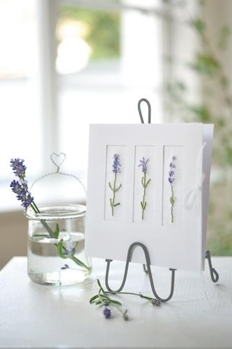 Passepartoutkarte -Lavendel-