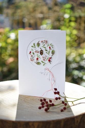 Passepartoutkarte -Herbstkugel-