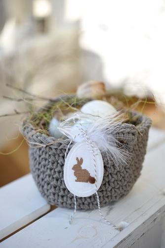 Häkel-Set für Osterkörbchen