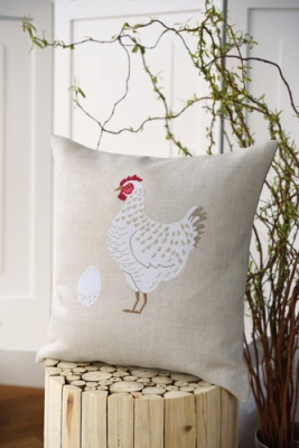 Kissenhülle -Weißes Huhn-