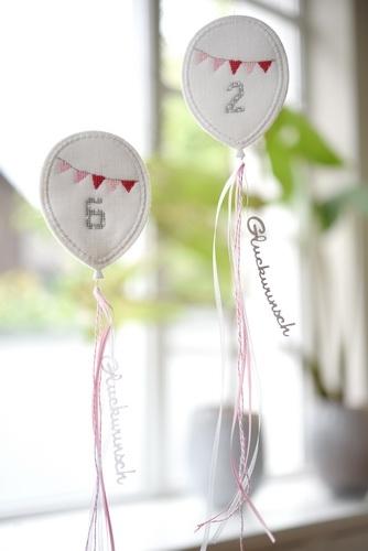 Stickpaket -Luftballonanhänger-