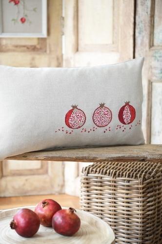 Kissenhülle -Granatäpfel-