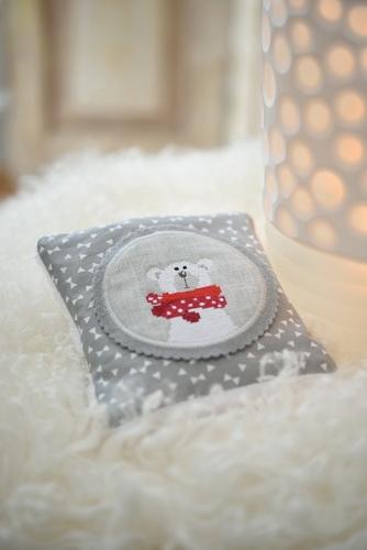 Kirschkernkissen -Eisbär-