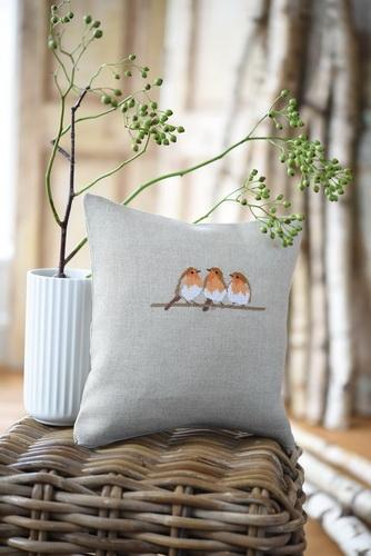 Kissenhülle -Rotkehlchen-
