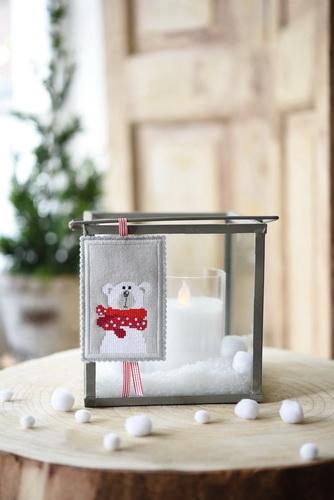 Stickdatei -Eisbär mit Schal, klein-