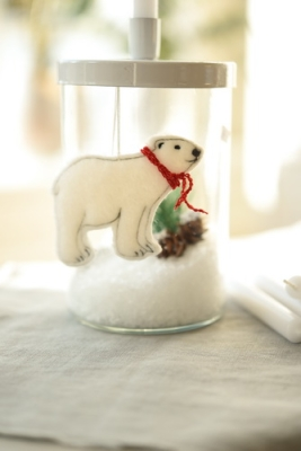 Stickanhänger -Eisbär-