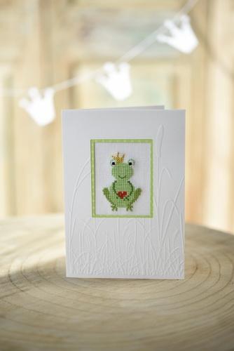 Stickdatei -Frosch mit Herz-