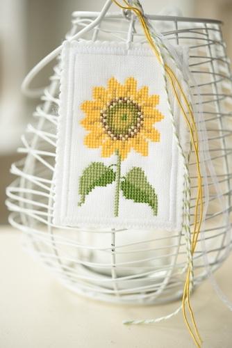 Stickbutton -Sonnenblume-