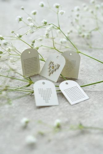 Stickanhänger-Set aus Papier ( 5 Stück)