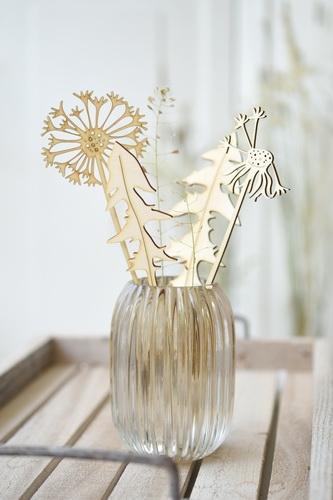 4er-Set Holz-Pusteblumen