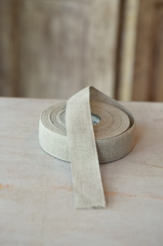 Leinenband, ungebleicht, 4 cm breit