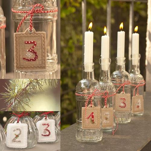 Stickpaket -Adventszahlen 1-2-3-4 (ungebleicht)-