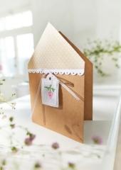 Passepartoutkarte -Haus mit Stickanhänger-