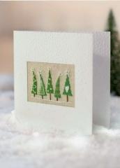Passepartoutkarte -Tannenbäume, mini- aus B/127
