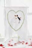 white banner -wedding-