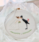 embroidery frame -wedding-