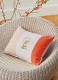 cushion-juggling rabbit with eggs-