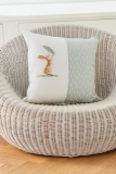 cushion- rabbit with feather-