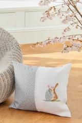Kissen -Hase mit Gänseblümchen-Ei-