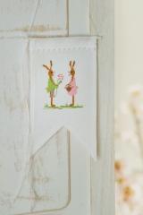 Mini-Wimpel -Hasenpaar-