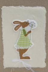 Stickdatei -Hasenmädchen mit Applikation-