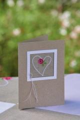passepartoucard - rose heart-
