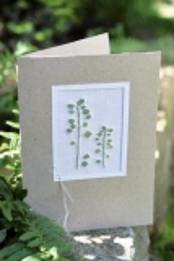 Passepartoutkarte -Blätter-