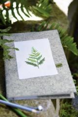 Buchhülle -Blätter-