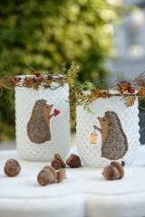 Stickdatei -Igel mit Laterne und Herz-