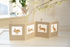 Papieraufsteller  -Hasenreihe-