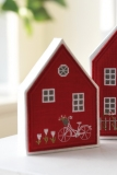 paper mache house-small with house button-