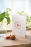 passepartoutcard -strawberry circle-