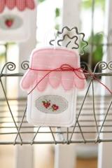 Marmeladenglasanhänger -rosa-