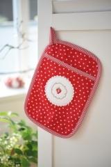 Topflappen -Erdbeere-