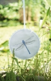 Stickbutton -Libelle-, rund