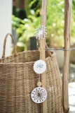paper festoon incl. button and wooden pearls