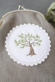 button - olive tree-