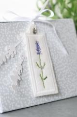 Stickanhänger -Lavendel-, einzeln