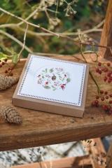 Schachtel mit Passepartout -Herbstkugel-