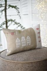 cushion cover -white houses-